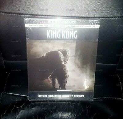 King Kong 4K Uhd + Blu-Ray + Blu-Ray Bonus Steelbook [France]