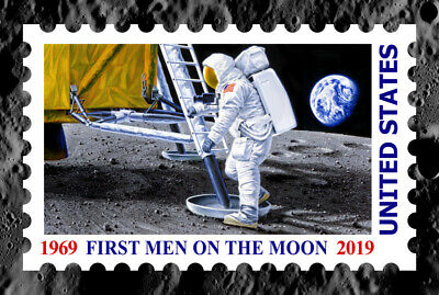 50th ANNIVERSARY - FIRST MEN ON THE MOON Limited Edition # 2 by Chris Calle