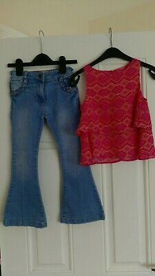 Girls outfit Matalan Flared Jeans And YD Top 5-6 Years