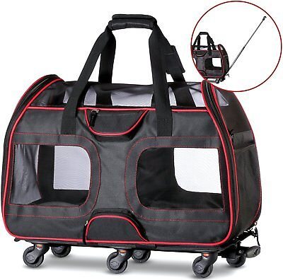 "50% OFF ""USED""  Katziela Pet Carrier with Wheels for Small Dogs and Cats"