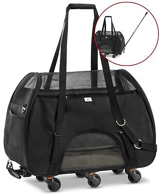 Used Once for testing - Airline Approved Removable Wheeled Pet Carrier 11X23X15