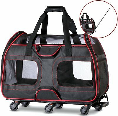 "50% OFF ""USED"" Airline Approved Pet Carrier with Wheels 22X11X15"""