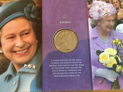 2002 Queen's Golden Jubillee £5 Coin & Commerative Sleeve With Photos