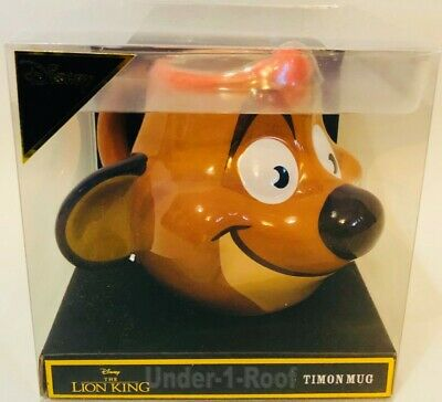 PRIMARK DISNEY THE LION KING TIMON CHARACTER SHAPED CUP MUG - Brand New In Box