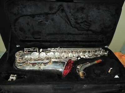 Cecilio Alto Saxophone Silver Plated with case & extra accessories!