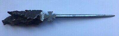 Medal Ww1 German Trench Art Letter Opener With An Iron Cross Made From Shrapnel