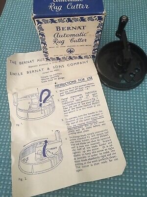 Vintage Bernat Automatic Rug Cutter original box with Instructions
