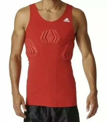 $55 Adidas Techfit Basketball Padded Compression Tank Men's Size XL Red S05380