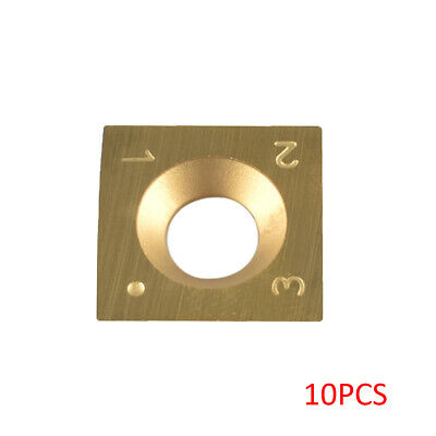 10pcs Carbide Cutter Insert 15 Square Round for Woodworking Turning Tool