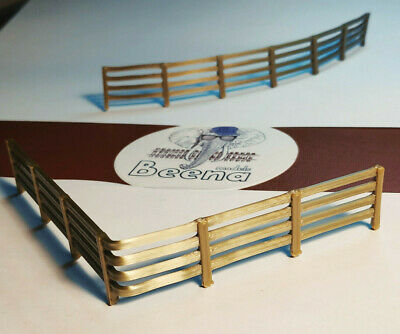 Scenery 1:76 OO gauge FENCING -10 PACK [Model Railway] Bronze *1.5 metres*