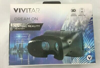 Vivitar Vitural Headset 3D Video Experience Works With Any Smart Phone #1045