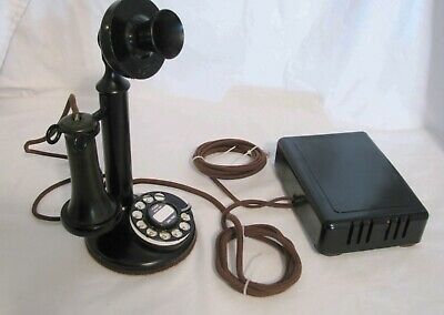 Western Electric Candlestick + 4H Dial & Ringer Box - Restored / Works