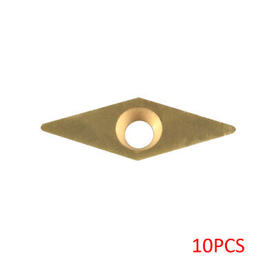 10pcs Carbide Cutter Insert 35°R for Woodworking Turning Tool