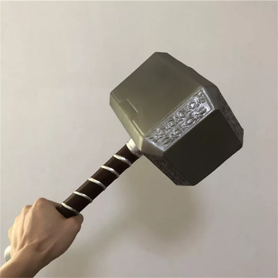The Avengers Thor Cosplay Hammer Replica Mjolnir Prop Resin Base Full Us Stand