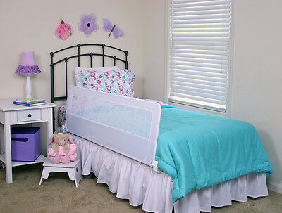 Safety Bed Rail Toddler Kids Swing Down Bedrail Side Adjustable Twin Queen Beds