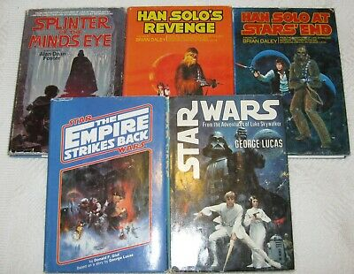 5 Vintage Star Wars and Han Solo HBDJ Books