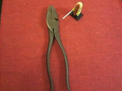Klein Tools lineman pliers model No. 213-8NE with side cutter Vintage