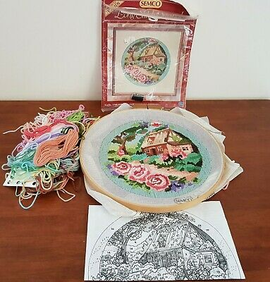 SEMCO Long Stitch Kit COUNTRY ROSE RETREAT Frame Thread Pattern TO FINISH
