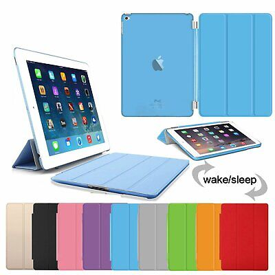 UK Genuine Ultraslim Smart Leather Case Cover for Apple iPad 2 3 4 mini pro 2017