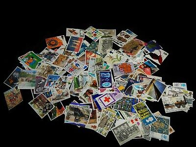 Vintage Stamps, LARGE LOT, 194 GREAT BRITAIN, UK, Large Pictorial Commemoratives