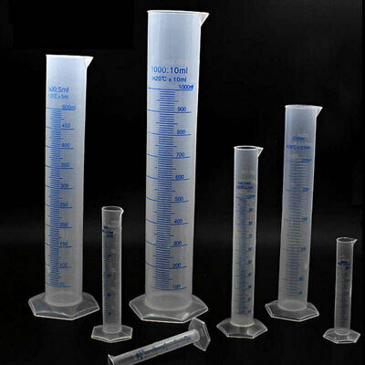 10/25/50/100/250/500/1000ML Plastic Measuring Cylinder Laboratory Graduated Tube