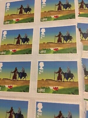 243 x Large 2nd Class Stamps - Original Price of £201.69 - BRAND NEW, UNUSED