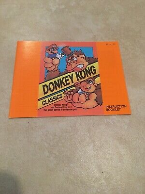 Donkey Kong Classics NES Nintendo Instruction Manual Only Excellent Condition