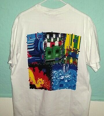 f68700f8c00a0a Rare Vintage 90's Rockwell Automation Double-Sided Promo T-Shirt-XL Made in