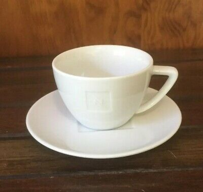 "Nespresso Cups & Saucers x 4 ""Roma"" 200ml Like New"
