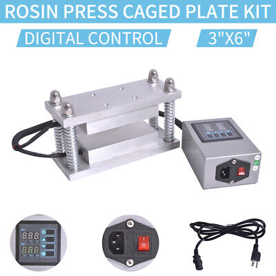 "3""x6"" Rosin Press Caged Plate Kit-Pairs 10-12 Ton Hydraulic Rosin Heat Press"