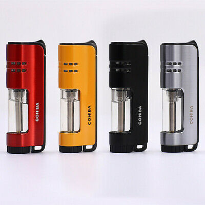 Cohiba Refillable 1 Torch Jet Flame Windproof Cigarette Cigar Lighters W/Box