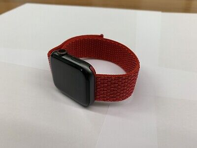 Cinturino apple watch in NYLON 42/44mm ROSSO RED NEW MY 2019 serie 1 2 3 4