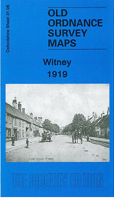 Old Ordnance Survey Map Witney 1919 Church Green Langel Common Corn Street
