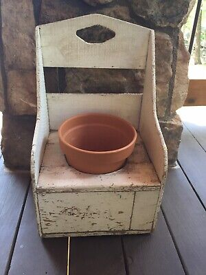 Antique Wood Child's Potty Chair Seat Commode Furniture Vintage Garden Planter
