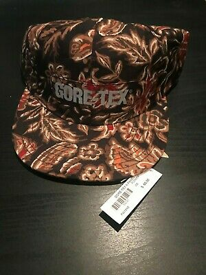28c26d223 SUPREME FW18 GORE Tex 6 Panel Hat Cap Black Box Logo - $125.29 ...