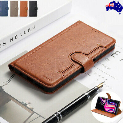 For Samsung Galaxy S10 5G S9 S8 Plus Note 9 Leather Card Flip Wallet Case Cover