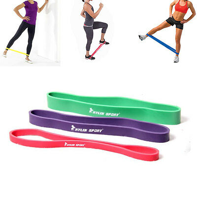 Resistance Band Loop Latex Exercise Yoga Leg Workout Power Gym Fitness Training