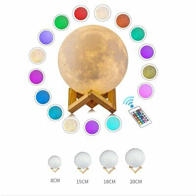 3D Magical Moon Dimmable USB LED Night Light Moonlight Touch Sensor Lamp Gift AU