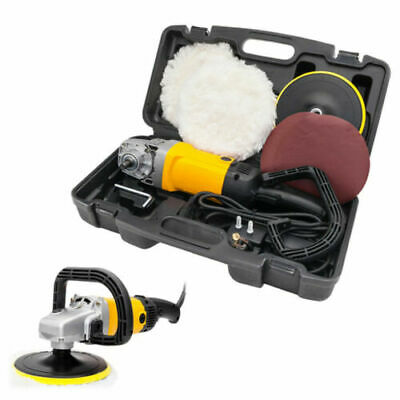 """1600W 7"""" Electric 6 Variable Speed Car Polisher Buffer Waxer Sander 600-3100RPM"""