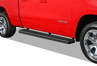 iBoard Running Boards 6 inches Matte Black Fit 19-20 Dodge Ram 1500 Quad Cab