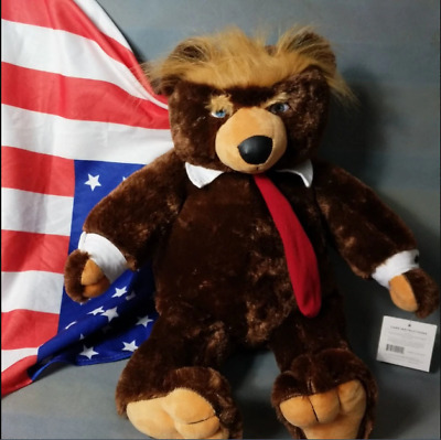 60cm Donald Trump Bear Plush Toy Collection Dolls Gift For Children Stuffed Doll