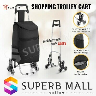 Shopping Cart Bag Market Grocery Luggage Basket Trolley Wheels Foldable Carts