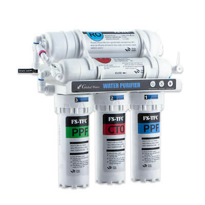 Global Water RO5 MINI System 100 GPD Water Filter – Small Reverse Osmosis 100GPD
