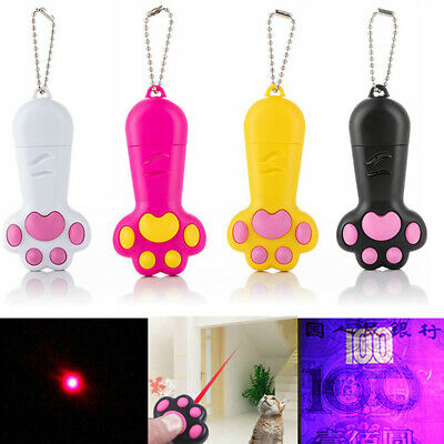 USB Rechargeable Laser Pointer LED Light Training Torch Pen For Pet Cat Dog Toy