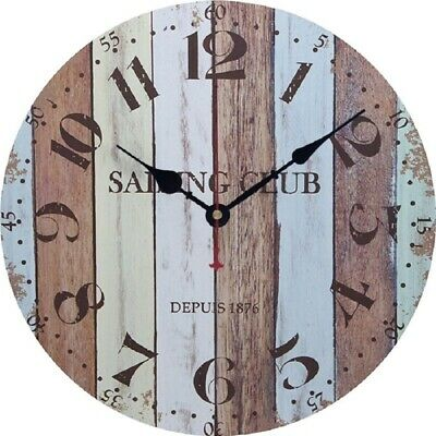 SHABBY CHIC WALL CLOCK 34CM ANTIQUE VINTAGE STYLE Diameter 34 cm Stylish SALE UK