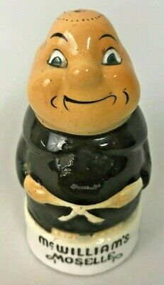 McWilliams Winery Moselle Monk Vintage Salt Shaker JAPAN Painted Souvenir