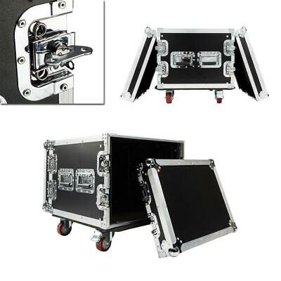 "19"" Space Rack Case Double Door Single Layer 8U DJ Equipment Cabinet Aluminum"