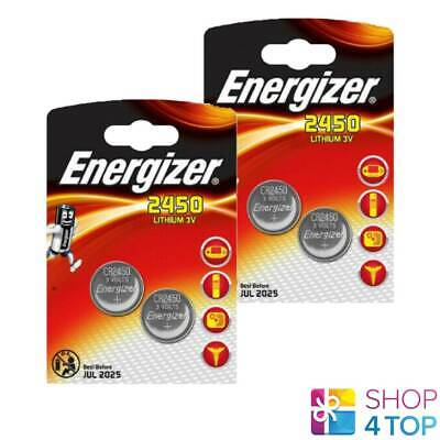 4 Energizer Cr2450 Lithium Batteries 3V Coin Cell Dl2430 Br2430 Exp 2025 New