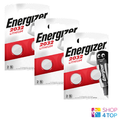 6 Energizer Cr2032 Lithium Batteries 3V Coin Cell Dl2032 Exp 2025 New
