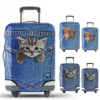 18-24''Cat Dog Suitcase Protector Elastic Luggage Travel Dust Cover Durable CA